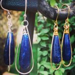 Sapphire Drop Earrings
