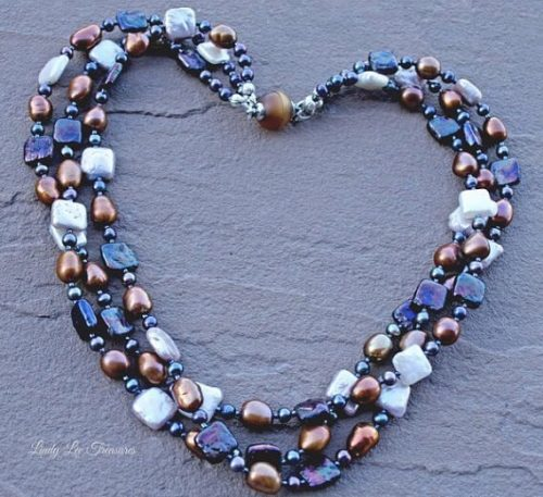 Pearl Necklace by Lindy Hartig  - featured on Jewelry Making Journal