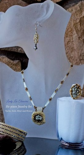 Pyrite druzy jewelry by Lindy Hartig  - featured on Jewelry Making Journal