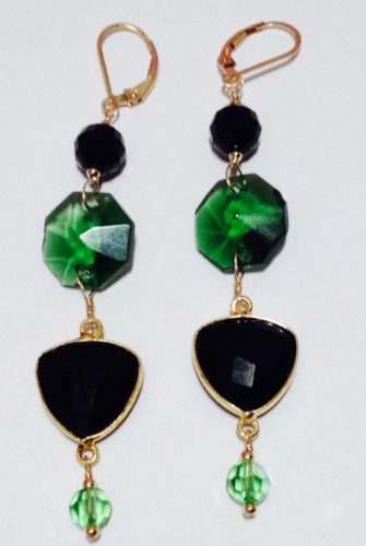 Wicked Witch - Black and Green Earrings by Jennifer Prim  - featured on Jewelry Making Journal