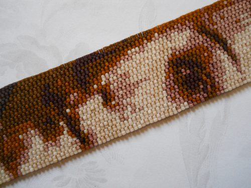 "Botticelli's ""Birth of Venus"" Peyote Stitch Cuff Bracelet by Holly Kurzman  - featured on Jewelry Making Journal"