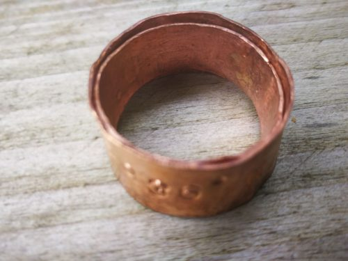 Copper Coordinate Rings by Lou Dixon  - featured on Jewelry Making Journal
