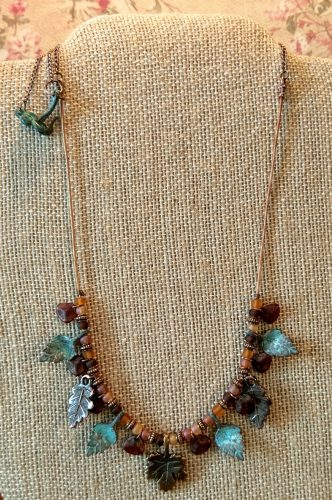 Leaves of Autumn Necklace and Earrings by Chris Rehkop  - featured on Jewelry Making Journal