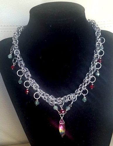 Two Bracelets Make a Necklace by Sharon Ashburner  - featured on Jewelry Making Journal