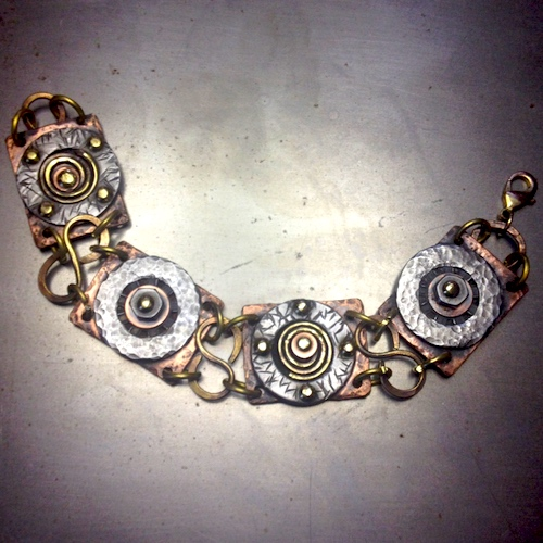 Hardware Jewelry - Bracelet by Carol Wofford  - featured on Jewelry Making Journal