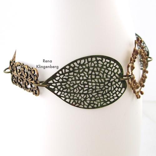Fantasy Filigree Bracelet Tutorial by Rena Klingenberg