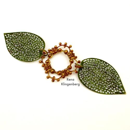 Fantasy Filigree Bracelet Tutorial by Rena Klingenberg, attaching filigree components
