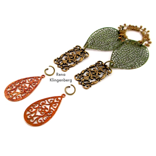 Fantasy Filigree Bracelet Tutorial by Rena Klingenberg, attaching filigree components