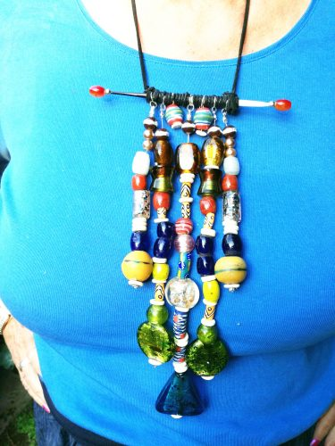 African Statement Necklace by Babsi Casack  - featured on Jewelry Making Journal
