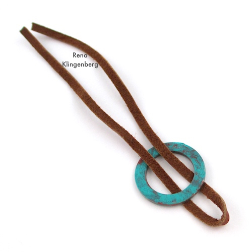 Step 2 - How to Make a Larks Head Knot - Step by Step Tutorial by Rena Klingenberg