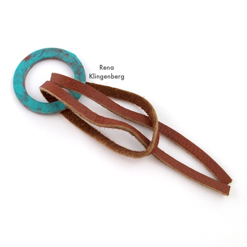 Step 3 - How to Make a Larks Head Knot - Step by Step Tutorial by Rena Klingenberg