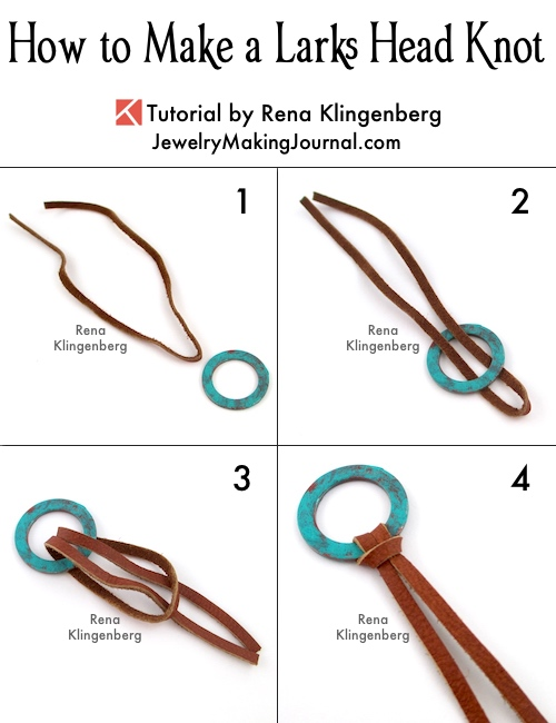 How to Make a Larks Head Knot - Step by Step Tutorial by Rena Klingenberg