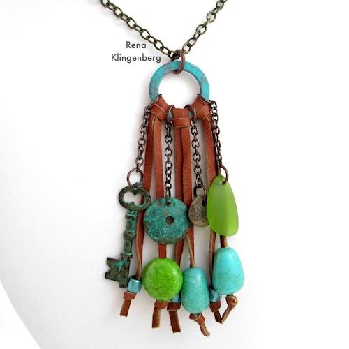 Southwestern Boho Necklace Tutorial by Rena Klingenberg