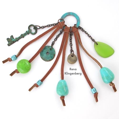 Southwestern Boho Necklace Tutorial by Rena Klingenberg - finished pendant