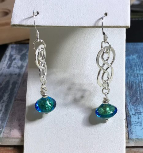 Go With The Flow Earrings by Patti Pojer  - featured on Jewelry Making Journal