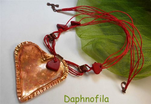 Love Heart Necklace! by Daphne  - featured on Jewelry Making Journal