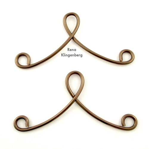 Wire work for Victorian Chain Earrings Tutorial by Rena Klingenberg