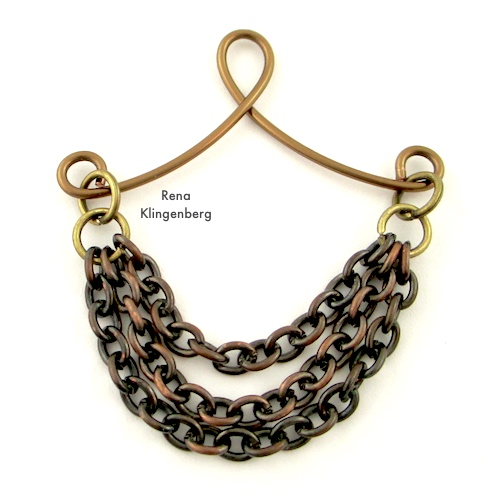 Attaching Chains to Victorian Chain Earrings Tutorial by Rena Klingenberg
