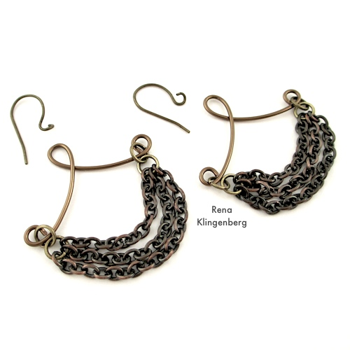 Attaching Earwires to Victorian Chain Earrings Tutorial by Rena Klingenberg