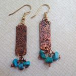 Recycled Copper Pipe Earrings