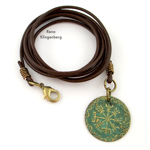 Leather Cord Wrap Bracelet Tutorial by Rena Klingenberg