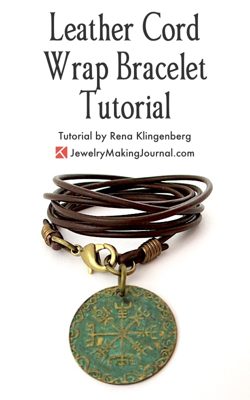 Leather Cord Wrap Bracelet Tutorial Jewelry Making Journal