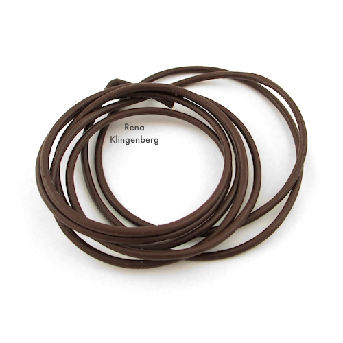 Leather Cord for Leather Cord Wrap Bracelet Tutorial by Rena Klingenberg