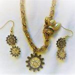 Steampunk Bee Jewelry Set