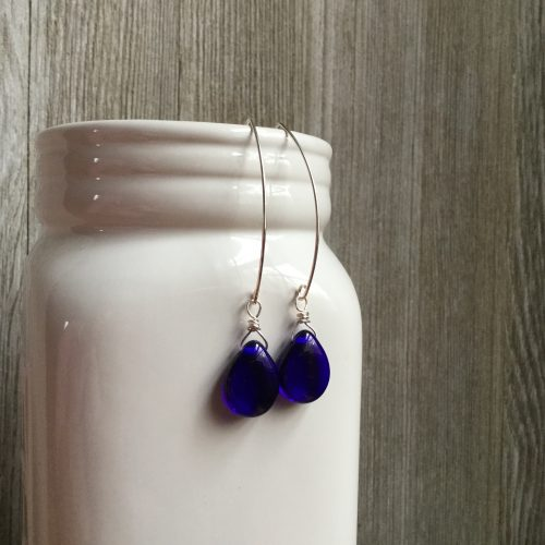 Winter Dark Blue Earrings by Leah  - featured on Jewelry Making Journal