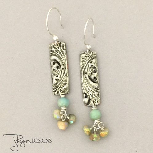 Every Day Dangle Earrings by Julie Ryen  - featured on Jewelry Making Journal