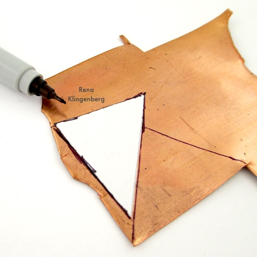 Making a Pattern for Hammered Metal Earrings Tutorial by Rena Klingenberg