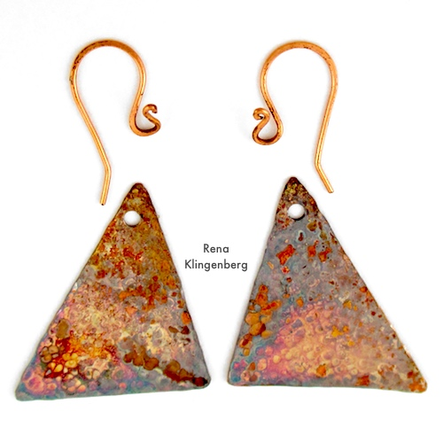 Attaching Earwires to Hammered Metal Earrings Tutorial by Rena Klingenberg