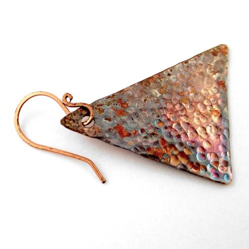 Attaching Earwires to Hammered Metal Earrings Tutorial by Rena Klingenberg
