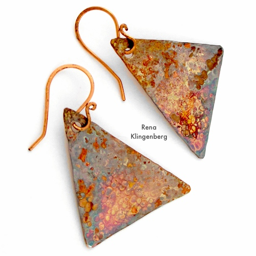 Hammered Metal Earrings Tutorial by Rena Klingenberg