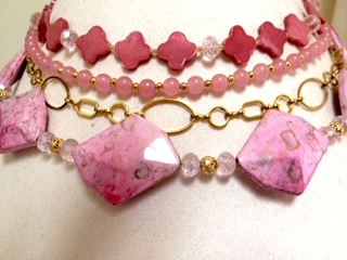 Pink Bead Project by Corrine Bateman  - featured on Jewelry Making Journal