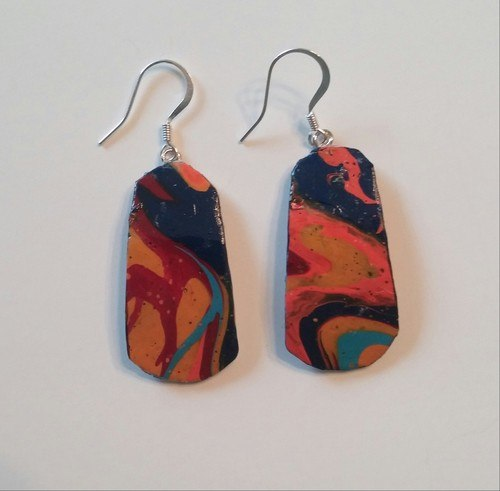 Earrings from Unique Materials by Dolly Traicoff  - featured on Jewelry Making Journal