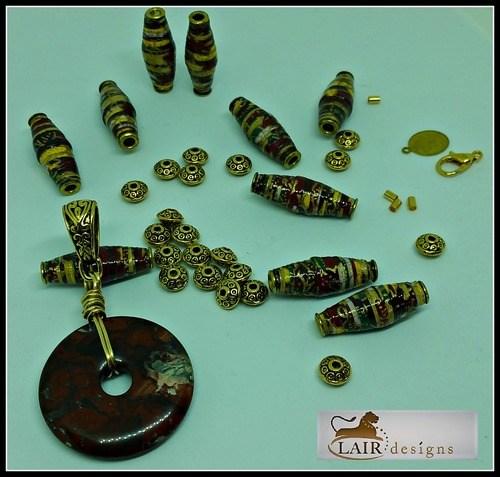 Handmade Paper Beads by Deborah Stinnett  - featured on Jewelry Making Journal