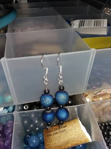Druzy & Hematite Sterling Silver Earrings by Nicole Kendall  - featured on Jewelry Making Journal