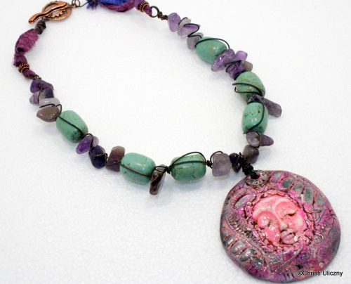 Rustic Avant Garde Pendant Necklace by Christi Uliczny  - featured on Jewelry Making Journal