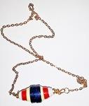 Paper Barrel Beaded Necklace