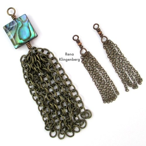 How to Make Chain Tassels Tutorial by Rena Klingenberg