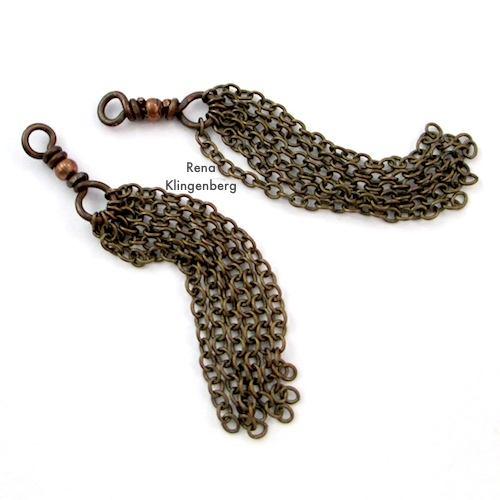 Making Earring Chain Tassels by Rena Klingenberg