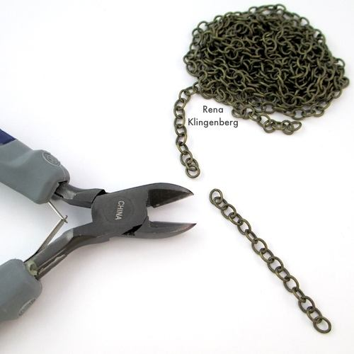Cutting Chain for How to Make Chain Tassels Tutorial by Rena Klingenberg