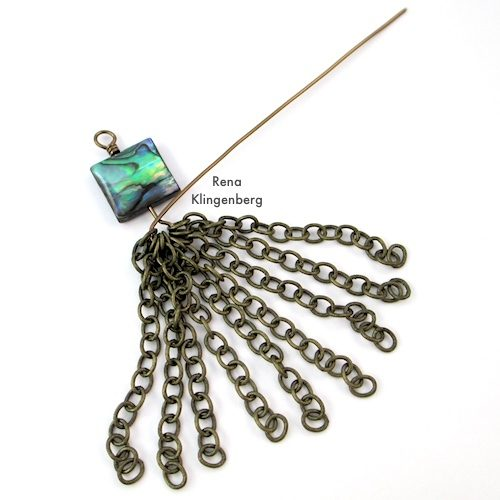 Adding Chains to How to Make Chain Tassels Tutorial by Rena Klingenberg