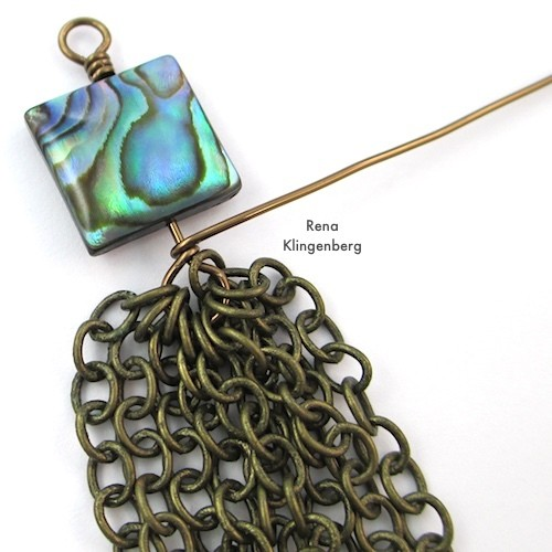 Making a Wrapped Wire Loop for How to Make Chain Tassels Tutorial by Rena Klingenberg
