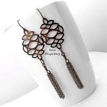 Filigree Earrings with Chain Tassels for Make Filigree Earrings 10 Design Ideas Tutorial by Rena Klingenberg
