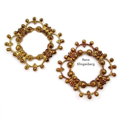 Frilly Filigree Stampings for Make Filigree Earrings 10 Design Ideas Tutorial by Rena Klingenberg