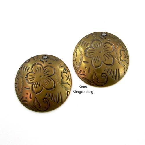 Dapped Metal Charms for Make Filigree Earrings 10 Design Ideas Tutorial by Rena Klingenberg