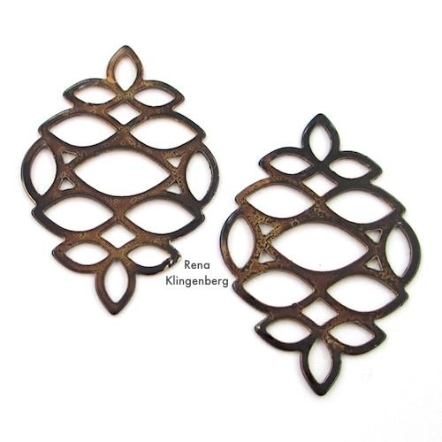 Multi-Marquise Components for Make Filigree Earrings 10 Design Ideas Tutorial by Rena Klingenberg