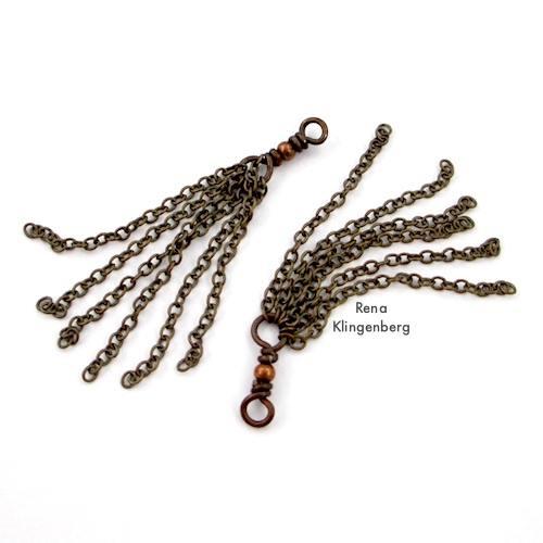 Chain Tassels for Make Filigree Earrings 10 Design Ideas Tutorial by Rena Klingenberg